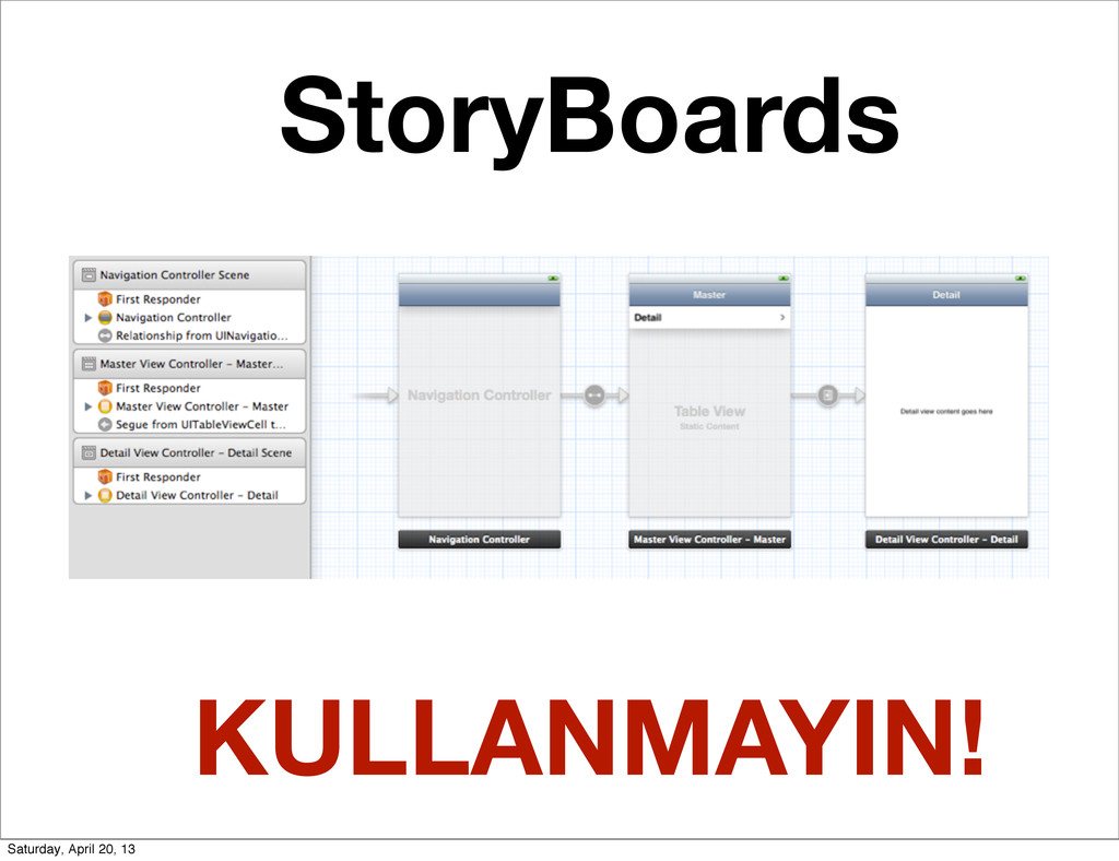 StoryBoards KULLANMAYIN! Saturday, April 20, 13