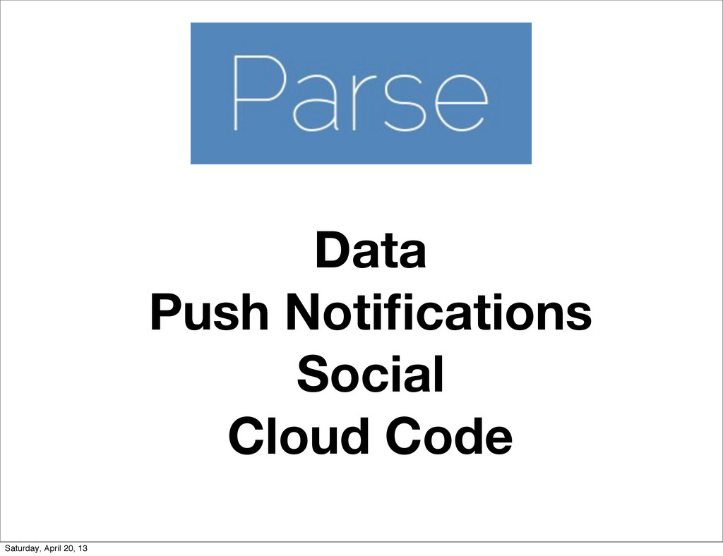 Data Push Notifications Social Cloud Code Saturd...