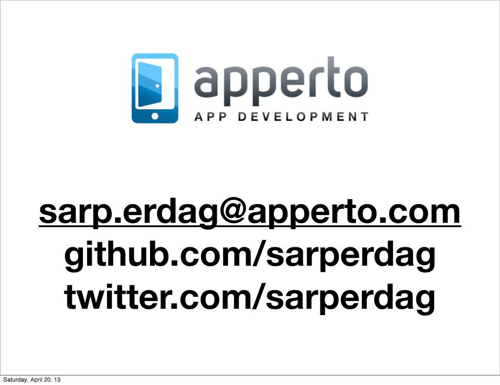 sarp.erdag@apperto.com github.com/sarperdag twi...