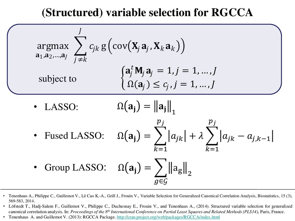 (Structured) variable selection for RGCCA argma...