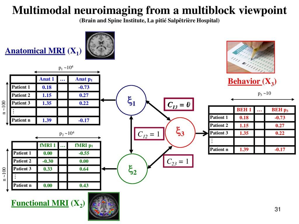 31 Multimodal neuroimaging from a multiblock vi...