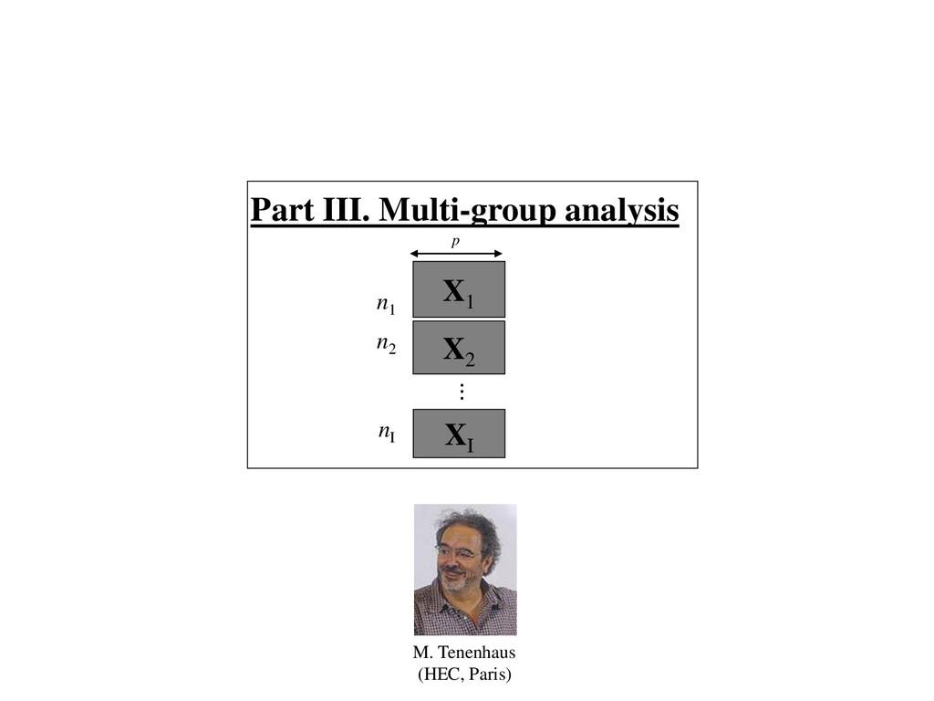 X1 X2 XI n1 p ... Part III. Multi-group analysi...