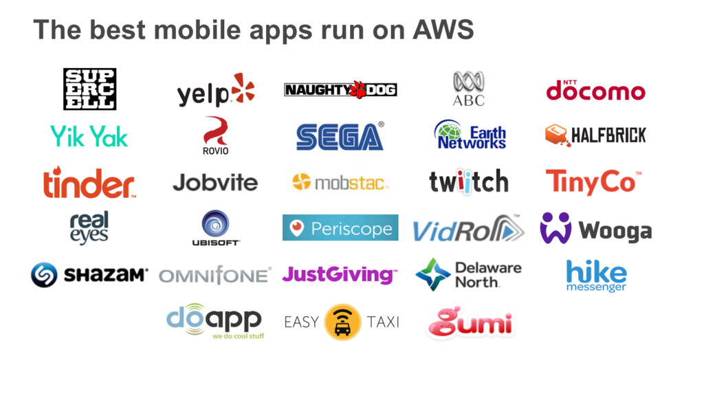 The best mobile apps run on AWS