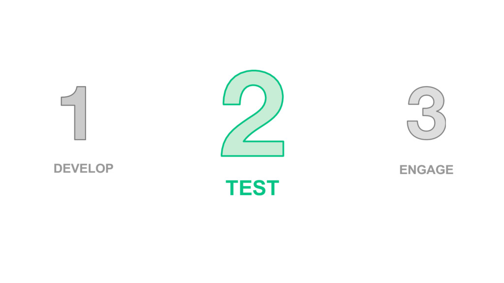DEVELOP TEST ENGAGE