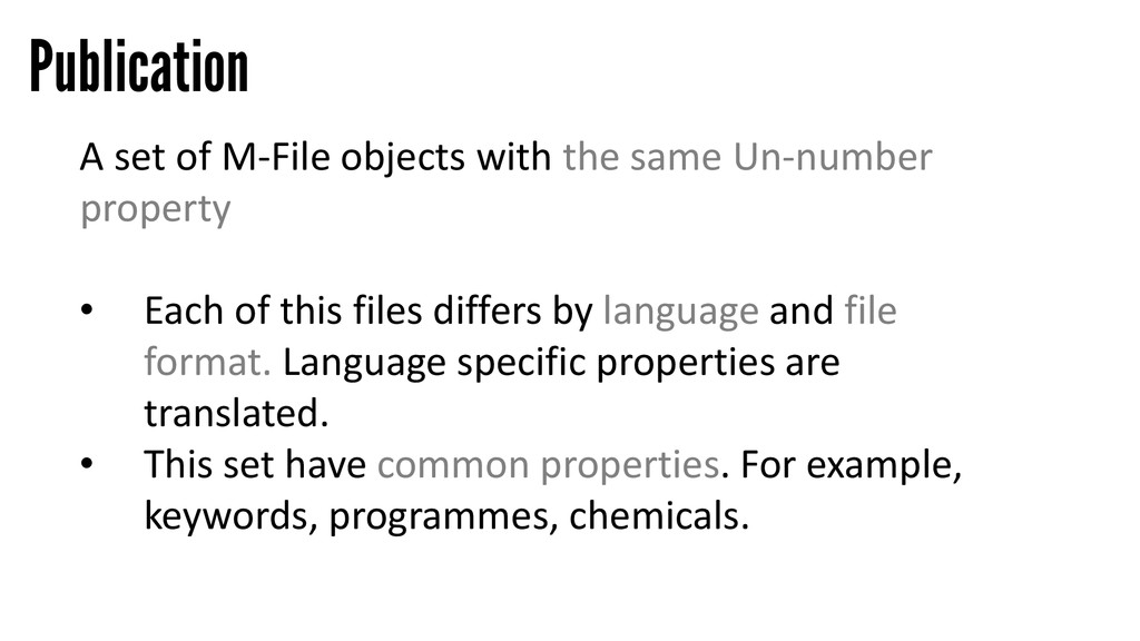 Publication A set of M-File objects with the sa...
