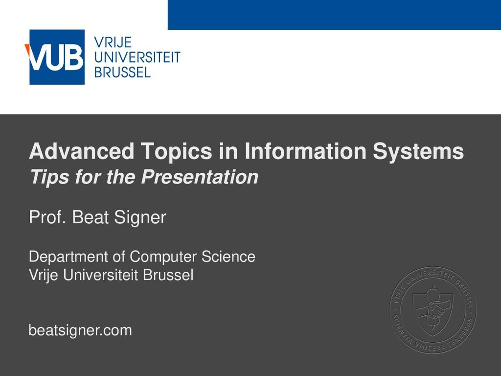 2 December 2005 Advanced Topics in Information ...