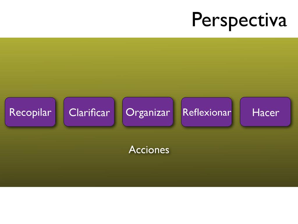 Perspectiva Recopilar Clarificar Organizar Hacer...