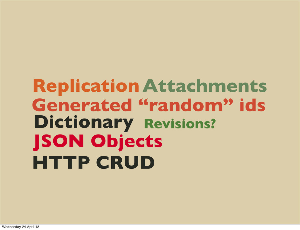 "Replication Attachments Generated ""random"" ids ..."