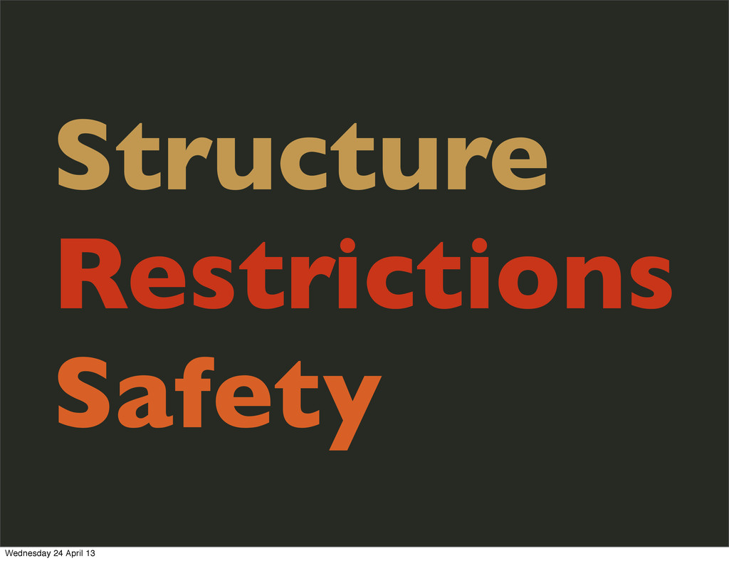 Structure Restrictions Safety Wednesday 24 Apri...