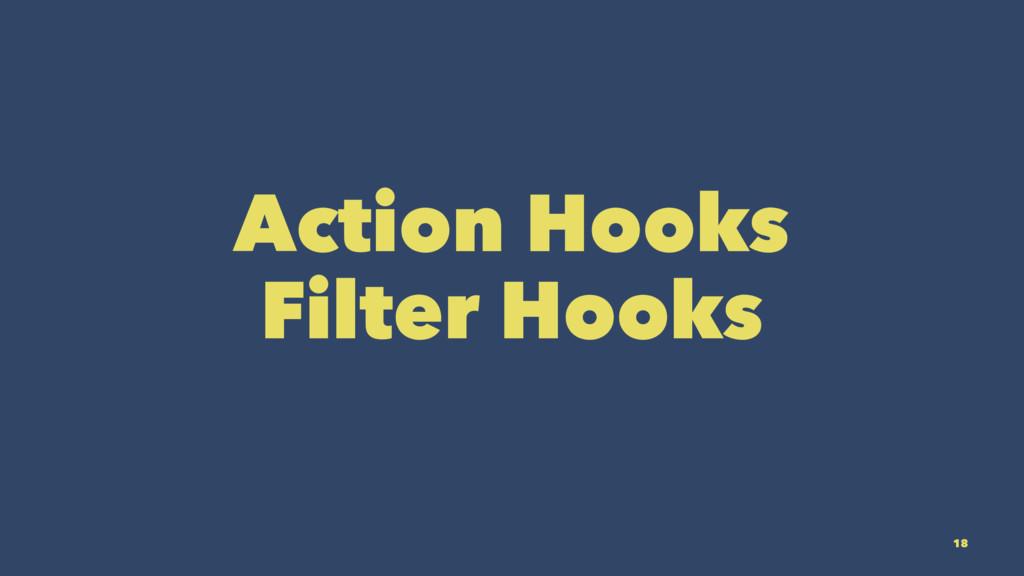 Action Hooks Filter Hooks 18