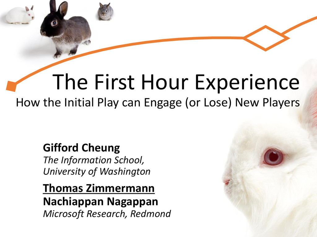 The First Hour Experience How the Initial Play ...