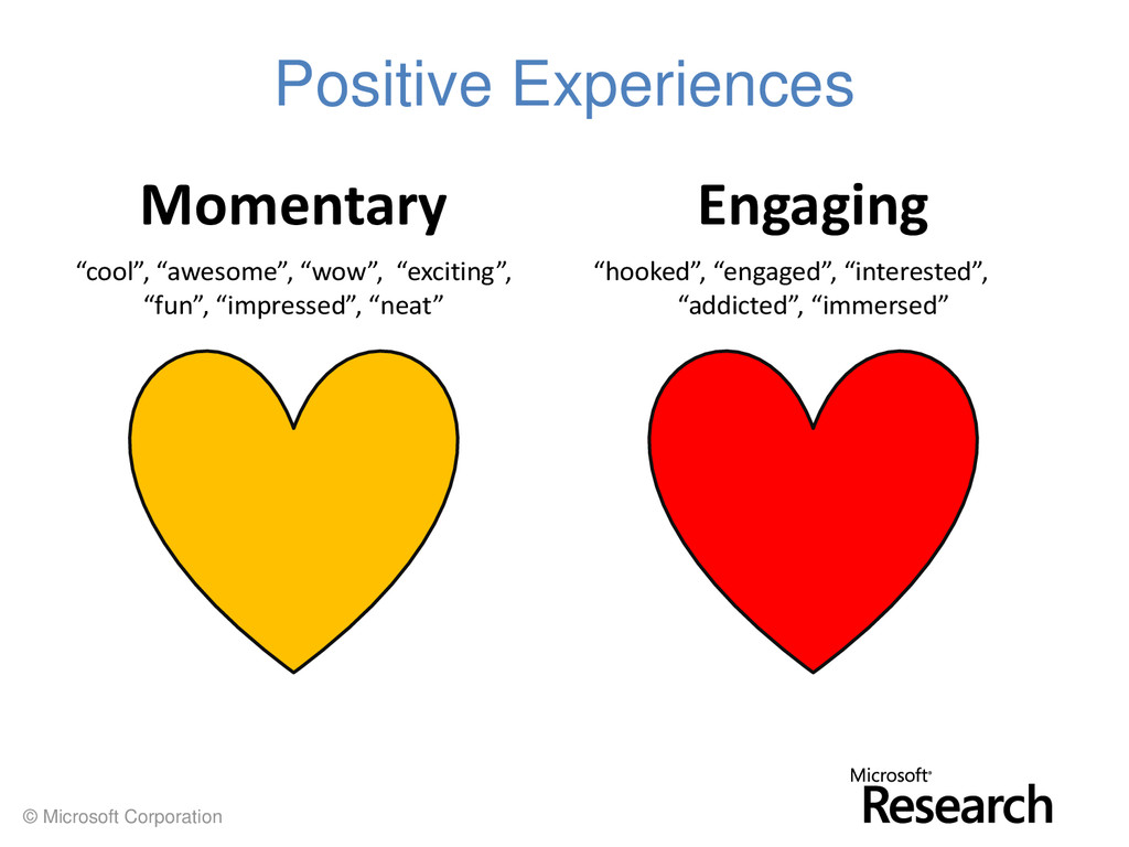 © Microsoft Corporation Positive Experiences En...
