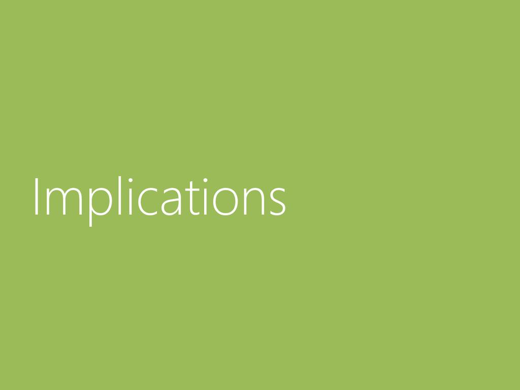 © Microsoft Corporation Implications