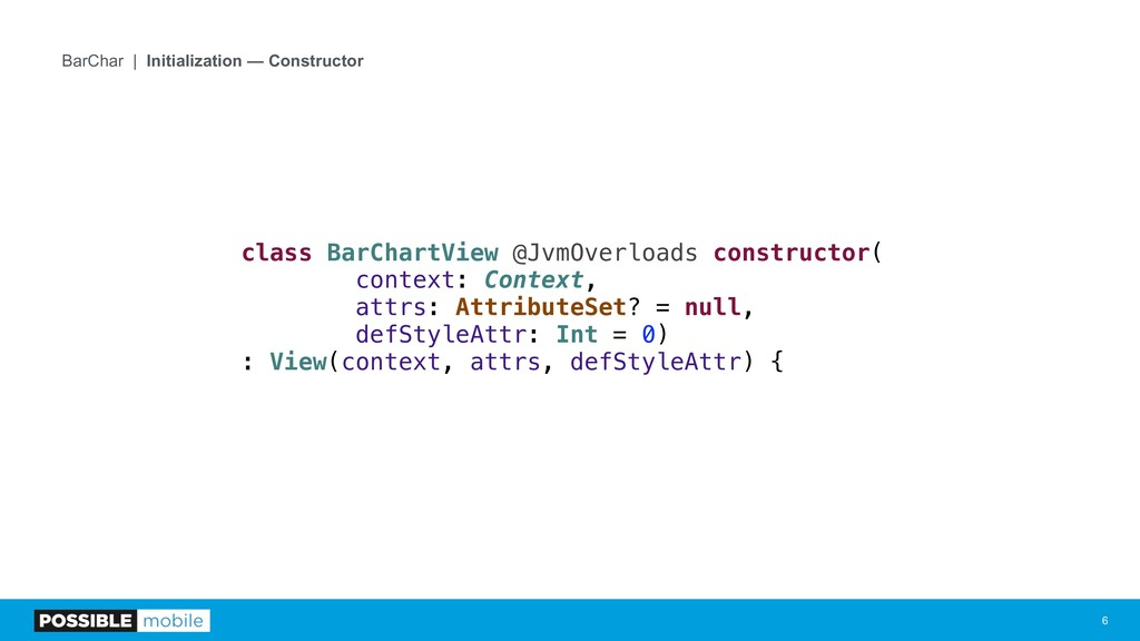 !6 BarChar | Initialization — Constructor class...