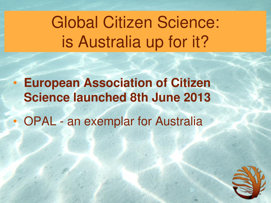 Global Citizen Science: is Australia up for it?...