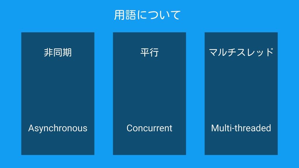 マルチスレッド Multi-threaded Concurrent Asynchronous ...