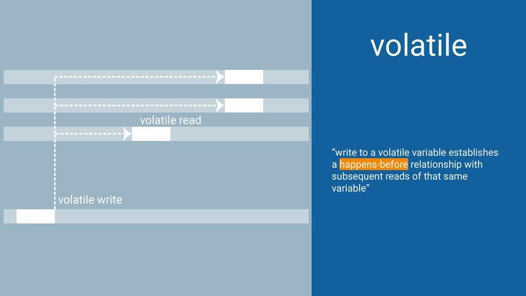 "volatile ""write to a volatile variable establis..."