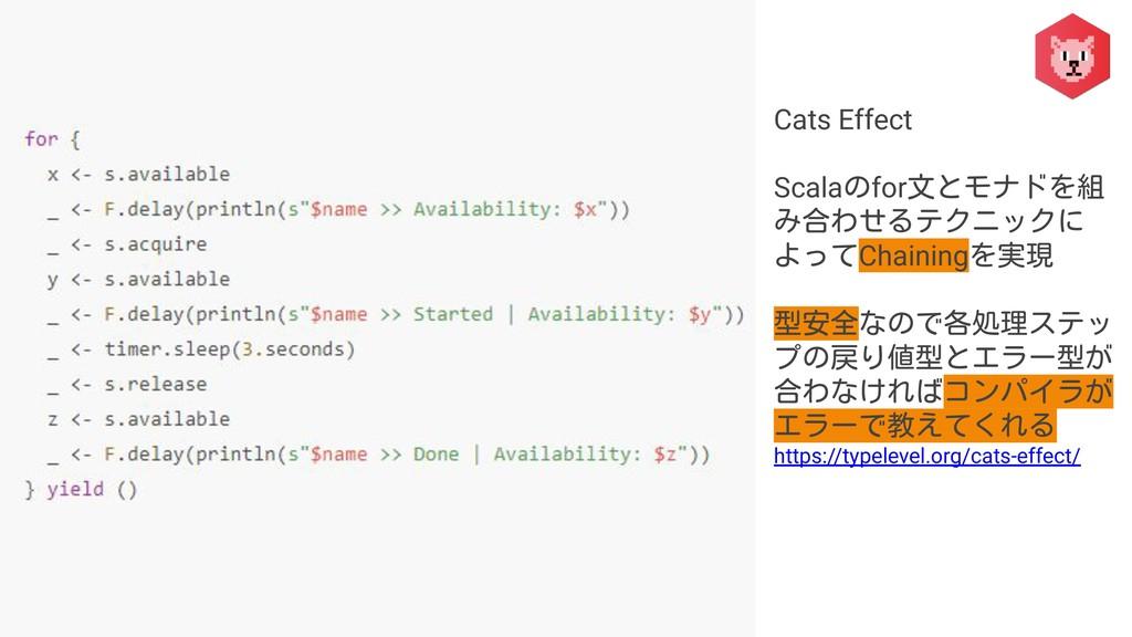 Cats Effect Scalaのfor文とモナドを組 み合わせるテクニックに よってCha...