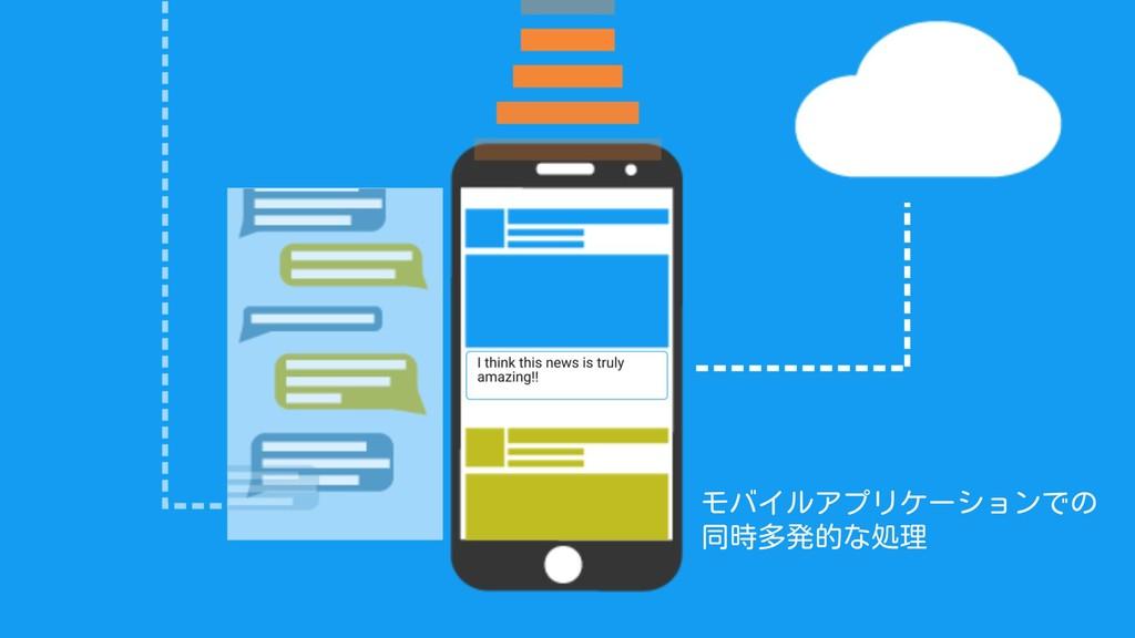 モバイルアプリケーションでの 同時多発的な処理