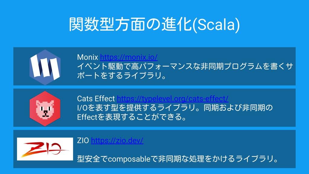関数型方面の進化(Scala) Monix https://monix.io/ イベント駆動で...