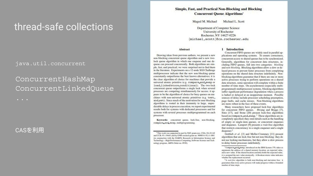 thread-safe collections java.util.concurrent Co...