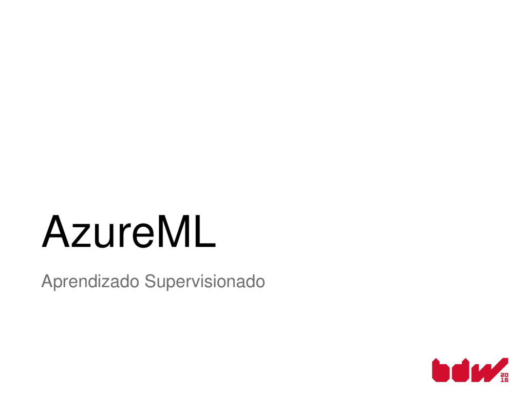 AzureML Aprendizado Supervisionado