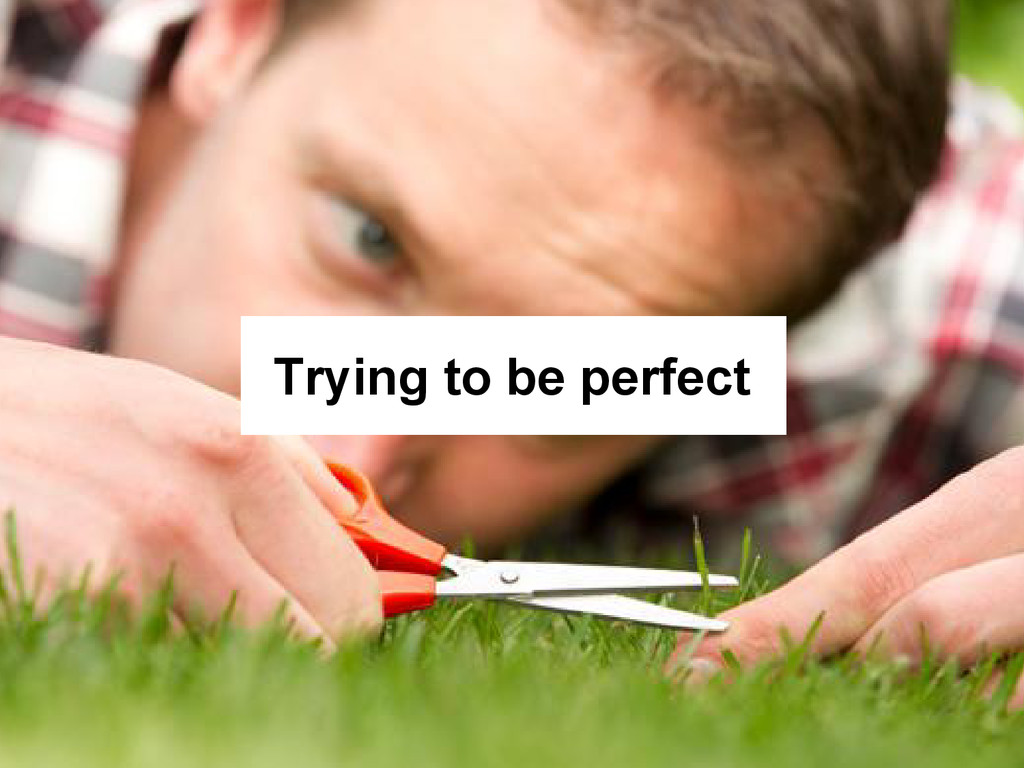 Trying to be perfect
