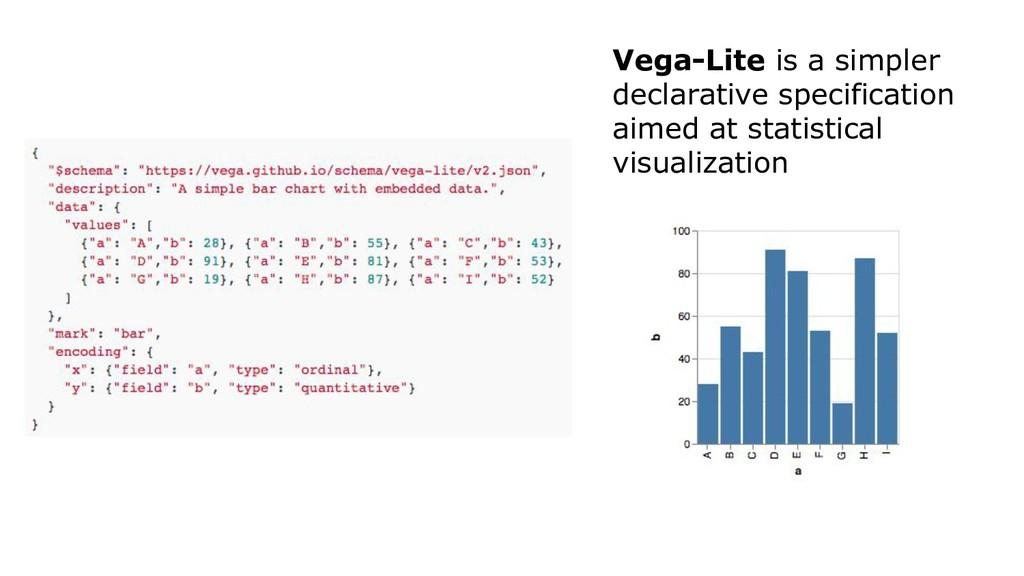 Vega-Lite is a simpler declarative specificatio...