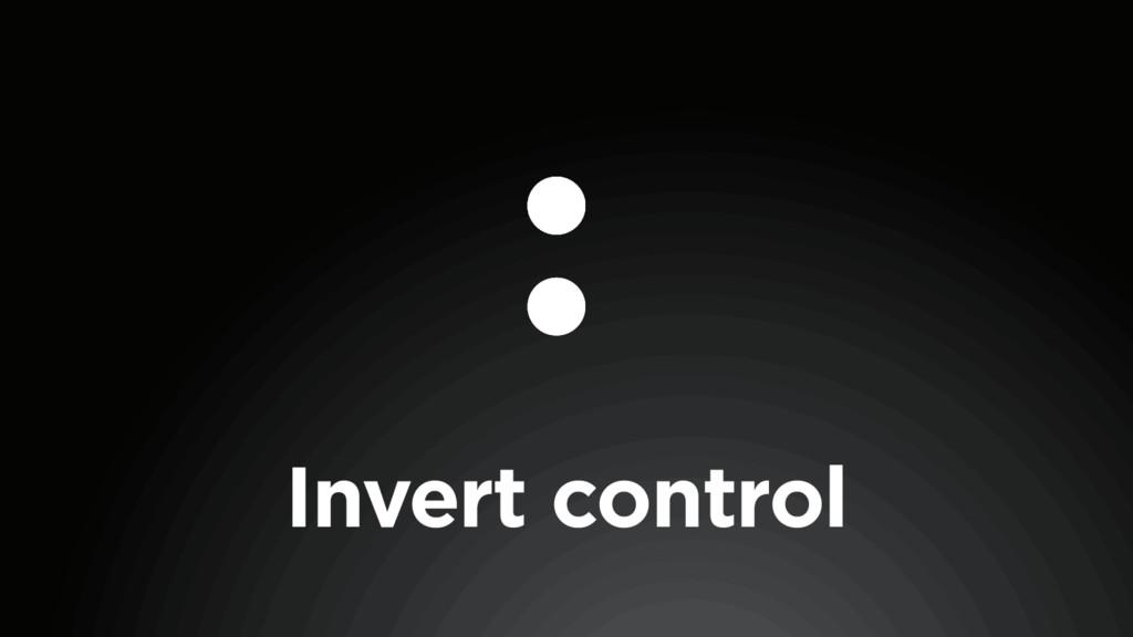 Invert control