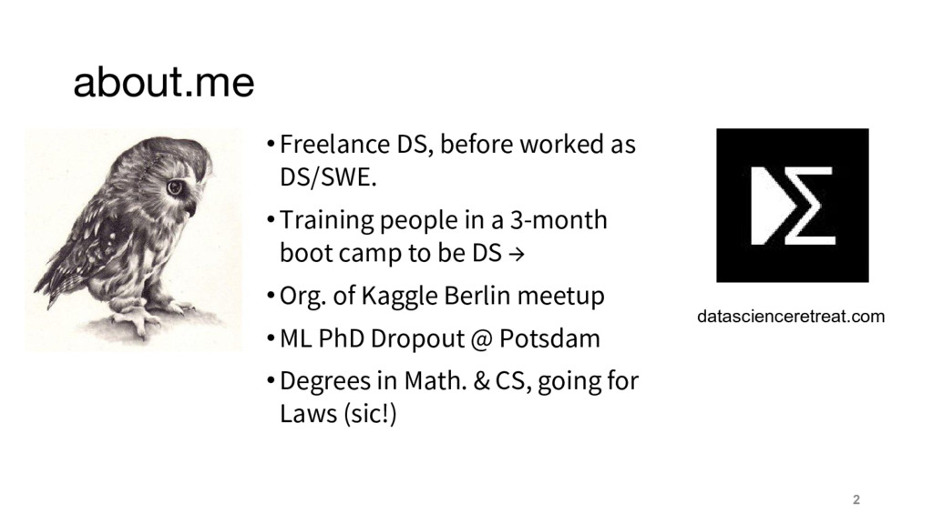 about.me 2 •Freelance DS, before worked as DS/S...