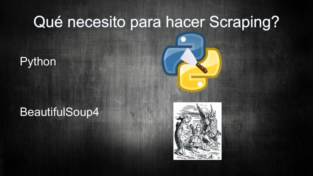 Python BeautifulSoup4