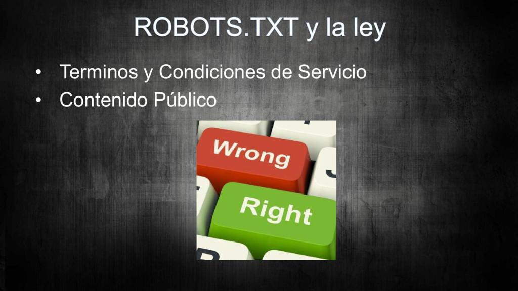 • Terminos y Condiciones de Servicio • Contenid...