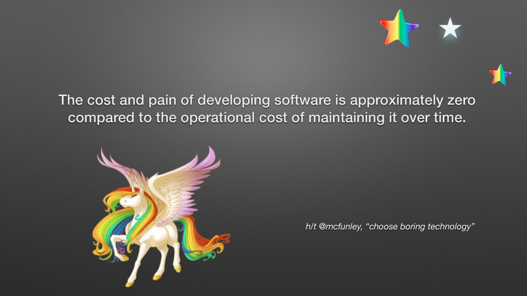 The cost and pain of developing software is app...