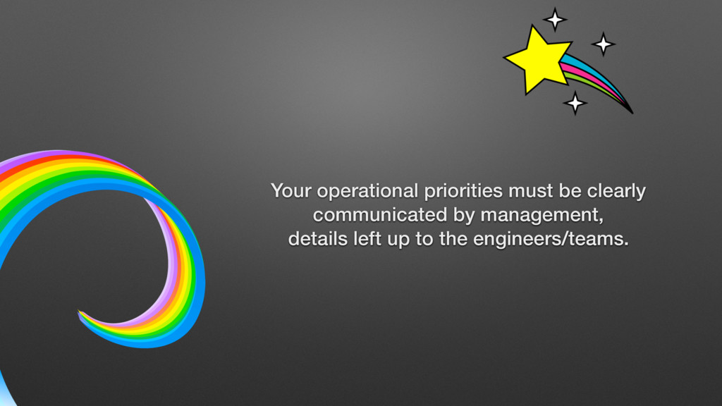 Your operational priorities must be clearly com...