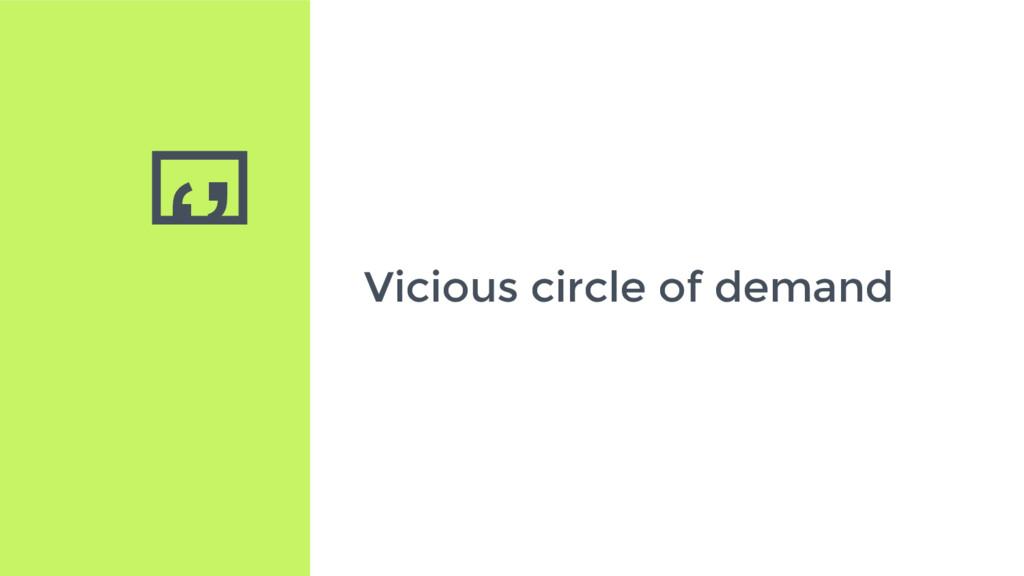 '' Vicious circle of demand