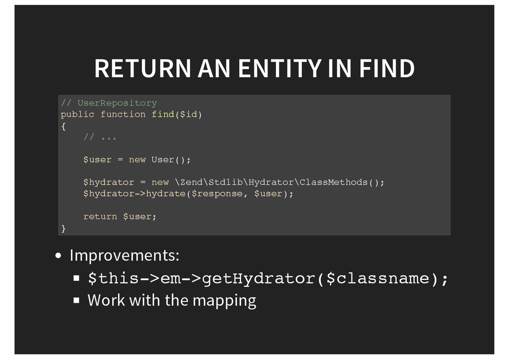 RETURN AN ENTITY IN FIND // UserRepository publ...