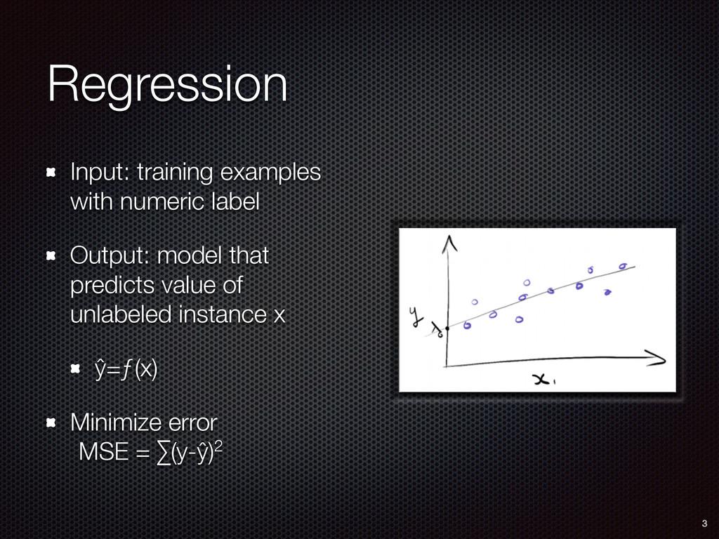 Regression Input: training examples with numeri...