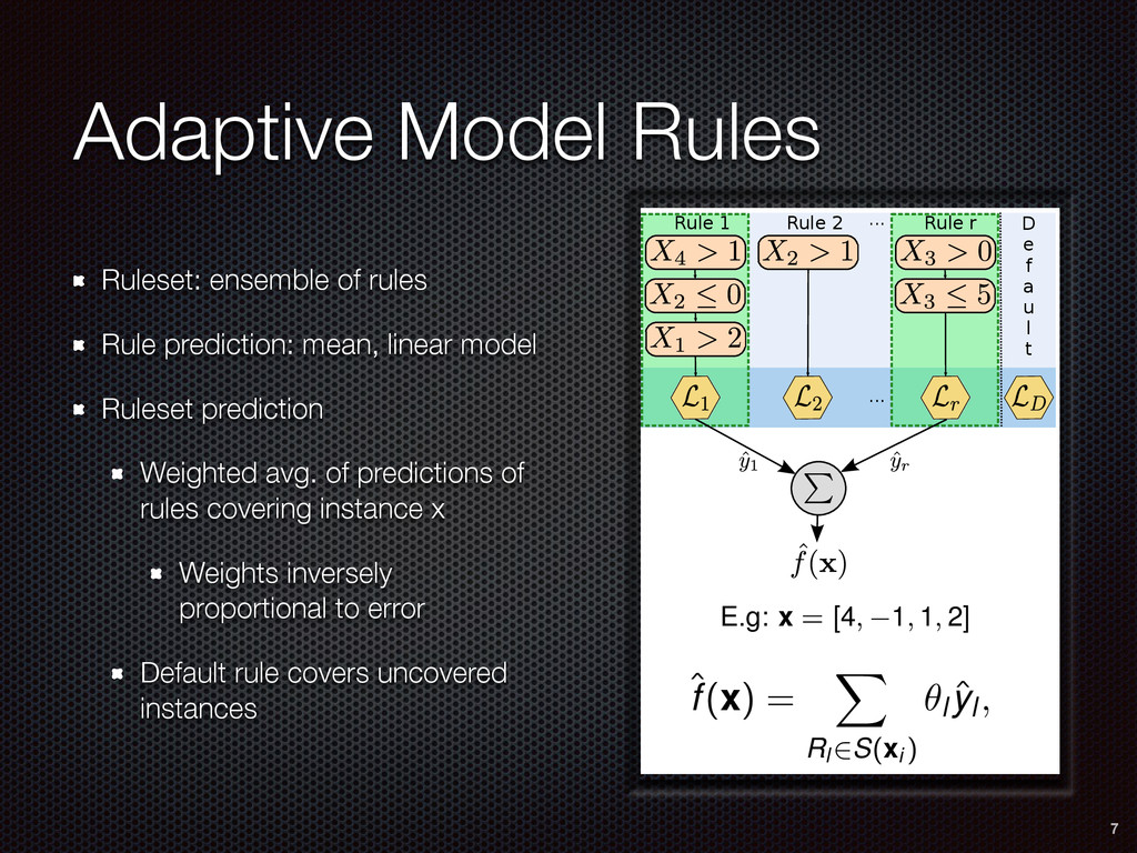 AMRules Rule sets Predicting with a rule set  ...