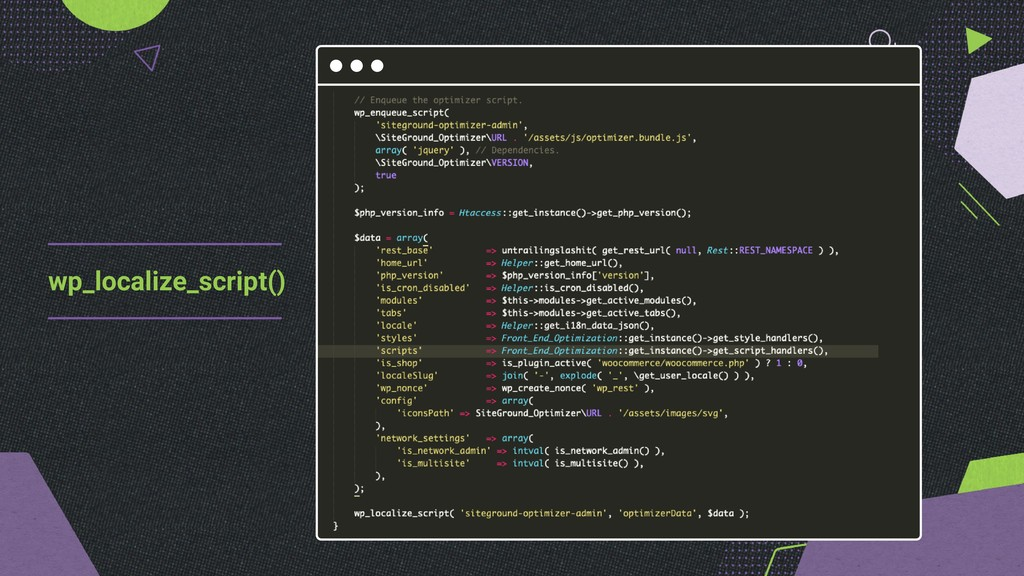 wp_localize_script()