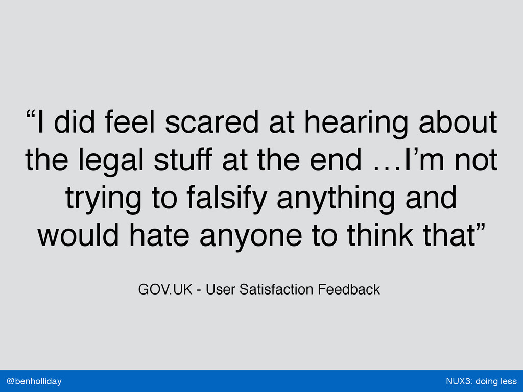 """NUX3: doing less @benholliday """"I did feel scare..."""