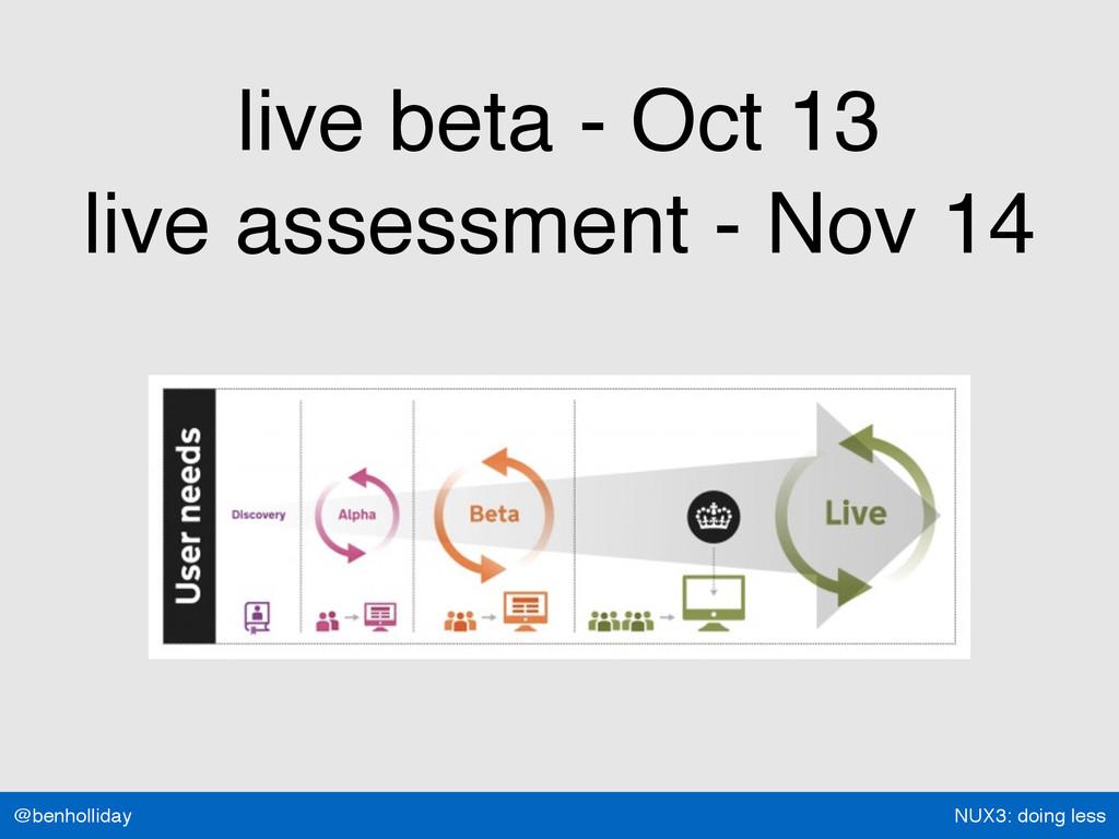 NUX3: doing less @benholliday live beta - Oct 1...