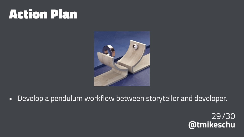 Action Plan • Develop a pendulum workflow betwe...