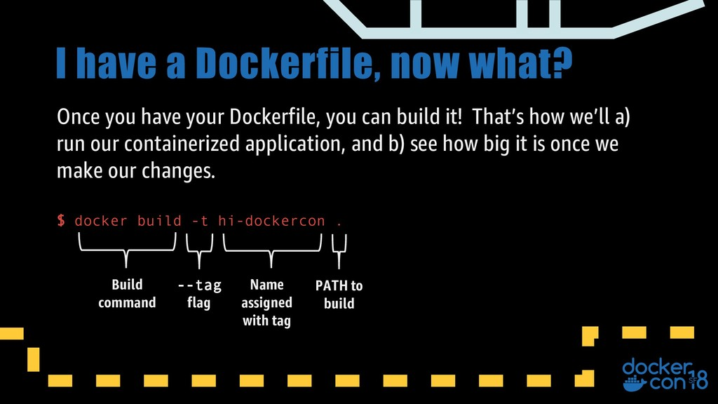 I have a Dockerfile, now what? Once you have yo...