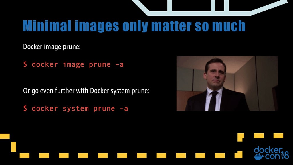 Minimal images only matter so much Docker image...