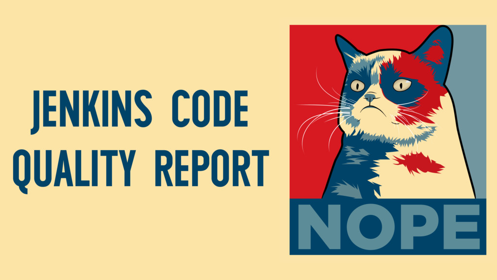 JENKINS CODE QUALITY REPORT