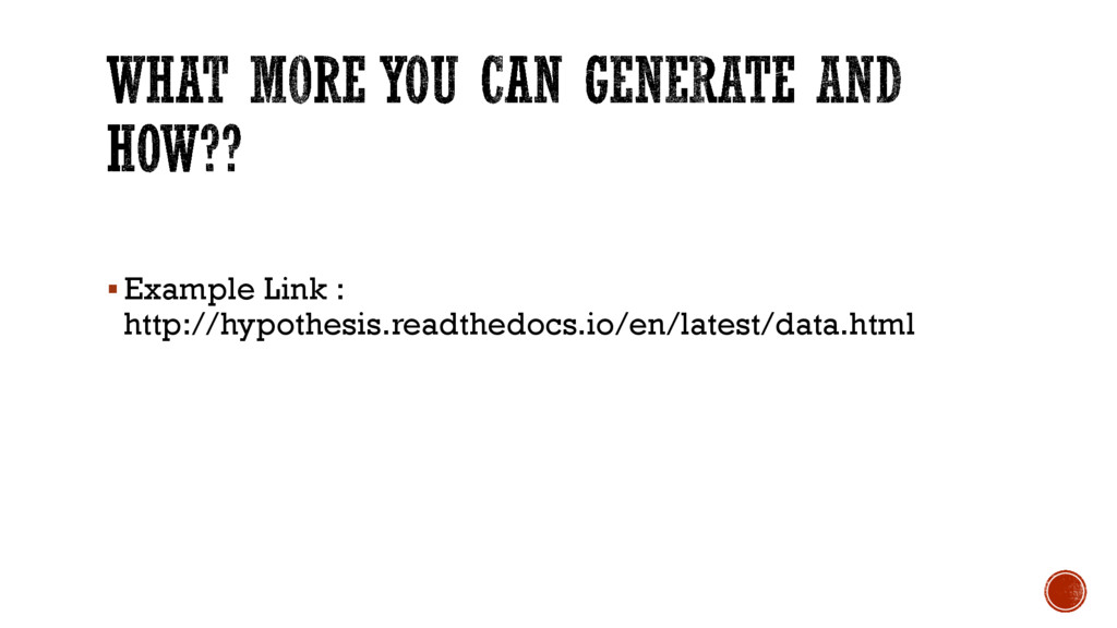 §Example Link : http://hypothesis.readthedocs.i...