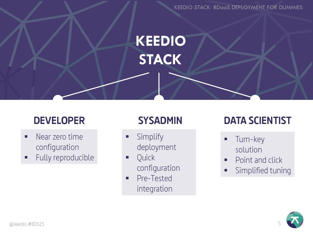 KEEDIO STACK 5 KEEDIO STACK: BDaaS DEPLOYMENT F...