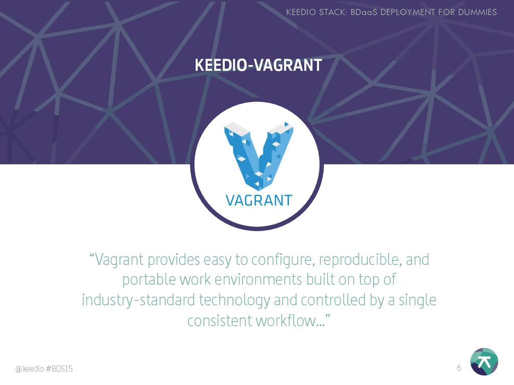 """""""Vagrant provides easy to configure, reproducib..."""