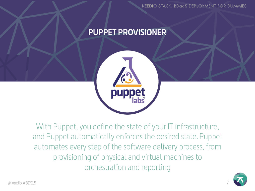 With Puppet, you define the state of your IT in...
