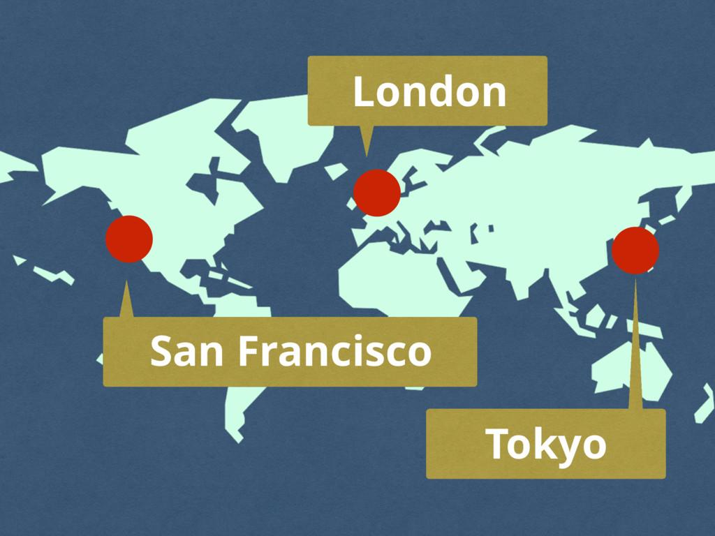 San Francisco London Tokyo